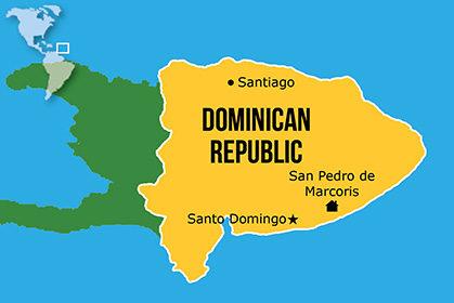 Mapa Hogares NPH Dominicana