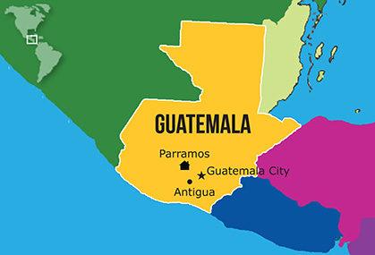Mapa Hogares NPH Guatemala