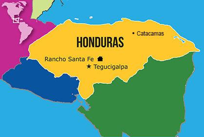 Mapa Hogares NPH Honduras