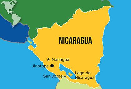 Mapa Hogares NPH Nicaragua