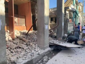 Daños por el terremoto en Haiti